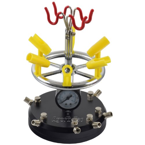 Soporte 8 Aerografos con regulador presión