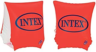 كتافات للسباحة قابلة للنفخ للاطفال من انتيكس، قطعتين - برتقالي
