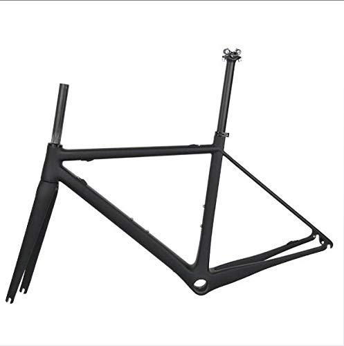 TQ Aero Rennrad-Rahmen, Carbon Rahmen Racing Fahrrad-Carbon-TT Rahmenset -T800 Carbon Rennradrahmen,Glossy Size s