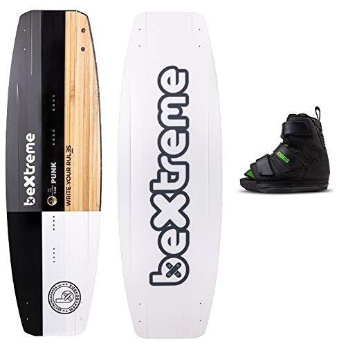 BeXtreme Tavola Wakeboard Punk 145cm + Stivali JOVE Host. Wakeboard per cableski, wakepark. Opzione di Chiglia per Kiteboard e Barca. Tavola per Uomini e Donne. Freestyle e Freeride
