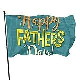 WDDHOME Glücklicher Vatertag Dank Papa Urlaub Hof Fahnen personalisierte dekorative Haus Fahnen 3 x 5 Fuß lebendige Farben Qualität Polyester und Messing Ösen