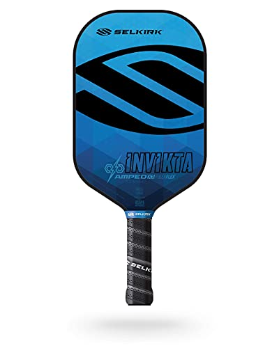 Selkirk Amped Pickleball Paddle   Fiberglass Pickleball Paddle with a Polypropylene X5 Core   Pickleball Rackets Made in The USA   2021 Invikta Midweight Sapphire Blue  