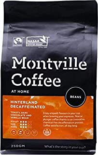 MONTVILLE COFFEE Hinterland Blend Decaf Coffee Beans 250 g, 250 g