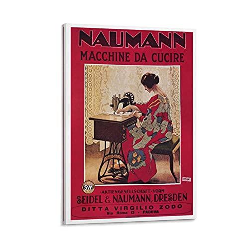 KKMM Naumann - Póster vintage para máquina de coser (40 x 60 cm)