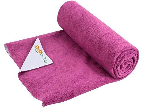 OYO Baby Waterproof Bed Protector Baby Dry Sheet, Large, Rani Pink (140 cm x 100 cm)