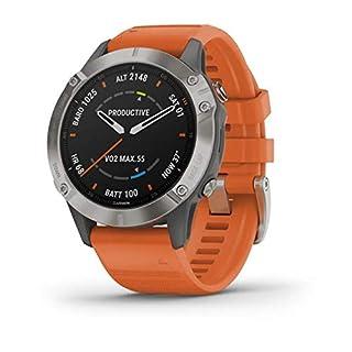 Garmin Fenix 6 Sapphire Multisport GPS Watch - Titanium with Orange Band (B07XPG4RCS) | Amazon price tracker / tracking, Amazon price history charts, Amazon price watches, Amazon price drop alerts