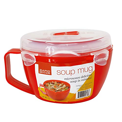 Rapid Soup Mug | Microwave Soup & Noodles in Minutes | Perfect for Dorm, Small Kitchen, or Office | Dishwasher-Safe, Microwaveable, BPA-Free