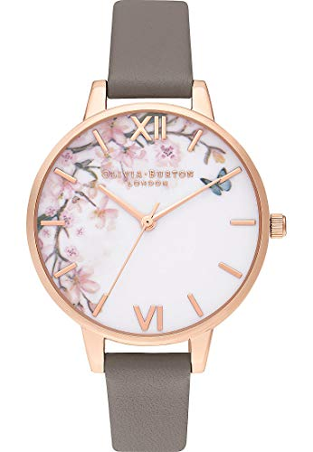 Olivia Burton Damen Analog Quarz Uhr mit Leder Armband OB16EG122
