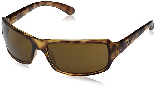 Ray-Ban Polarizan gafas de sol Sport Wrap en Havana Crystal Brown RB4075 642/57 61 61 Crystal Brown Polarised