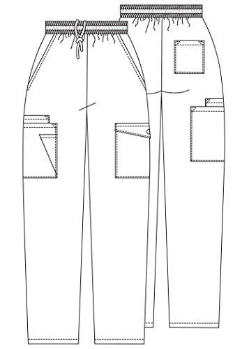 Adar Uniforms Medizinische Schrubb-hosen – Damen-Krankenhaus-Uniformhose 506 Color RYL | Talla: S - 7