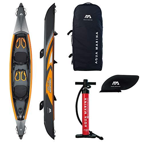Aquamarina Unisex– Erwachsene Kayak 2 Posti Tomahawk Air-440 Kajak, Schwarz/Orange, Uni