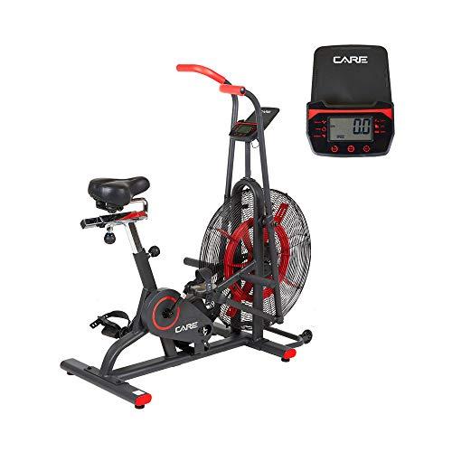 Care Fitnes CT-150 - Bicicleta estática de aire para bicicleta de aire – Asas móviles – para trabajo Simultané bajo y alto del cuerpo – Sillín cómodo – Bicicleta Aparment Care con rueda de aire