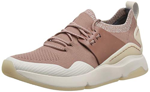 Cole Haan Damen Zerogrand All-Day Trainer Sneaker, Pink (Burlwood Knit/Burlwood Leather/Morganite Burwood Knit/Burwo), 39 EU