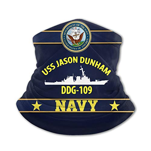 USS Jason Dunham Ddg-109 Outdoor Warmer Scarf Dust Windproof Sports Mask Black