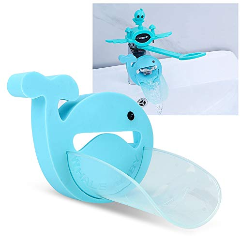 Yuehuam Faucet Extender Water Nozzle Extender Sink Handle Extender Washbasin Bathroom Mixer Tap Extender for Baby Hand Washing(Blue)