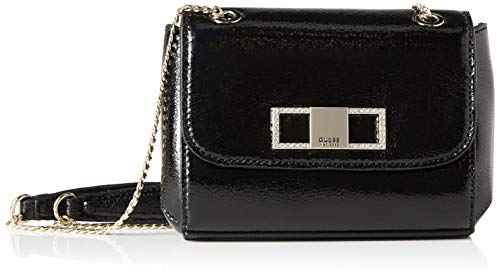 Guess Dinner Date Mini XBODY Flap, Bags Clutch Donna, Black, Taglia...