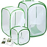 RESTCLOUD 3-Pack Large Monarch Butterfly Habitat, Giant Collapsible Insect Mesh Cage Terrarium Pop-up