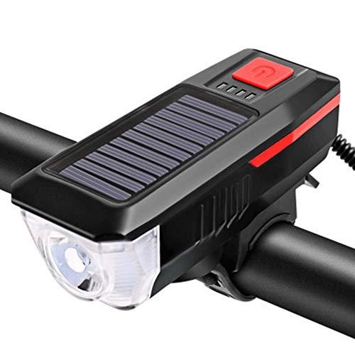SAHWIN Luz Bicicleta LED Recargable USB, 350 Lumens 2000 Mah Potente Luces Bicicleta Delantera Y Trasera, 3 Modos, IPX5 Impermeable Luces Seguridad para Ciclismo De Montaña Y Carretera