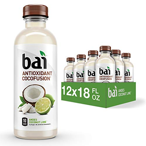 Bai Coconut Flavored Water, Andes Coconut Lime, Antioxidant Infused Drinks, 18 Fluid Ounce Bottles, 6 Count