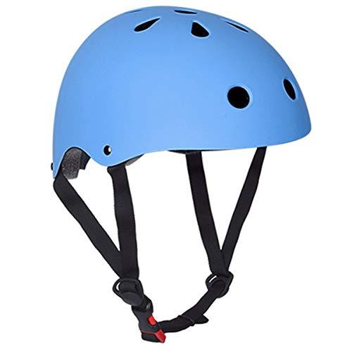 Rehomy Kinder-Fahrradhelm, verstellbar, Sicherheitshelm für Radfahren, Skaten, Klettern, Multi-Sport M Blue-M