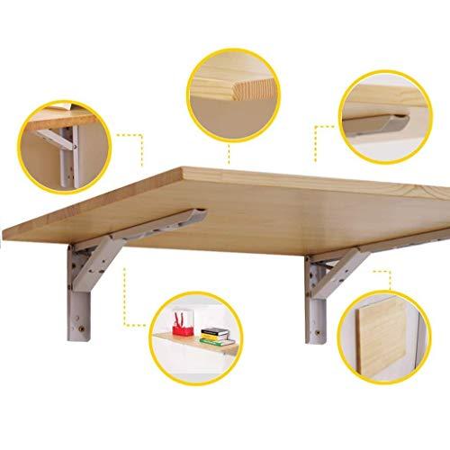 Aan de muur bevestigde vloer table Klaptafel for wandmontage beugel wand-vouwen keukentafel met RVS beugel, thuis bureau ruimtebesparend magazijnstelling laptop bureau (Size : 120×50cm)