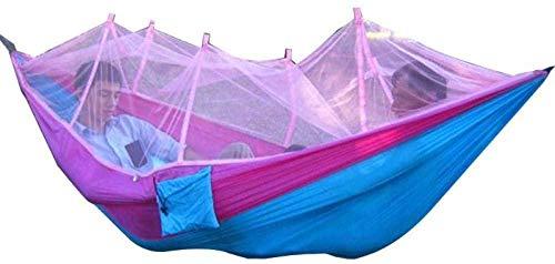 URPRU Amaca da Balcone Amaca Matrimoniale Outdoor Picnic Garden Hammock Mosquito Net Portable Outdoor Garden Travel Swing Parachute Hang Bed Amaca da Campeggio Furniture-4