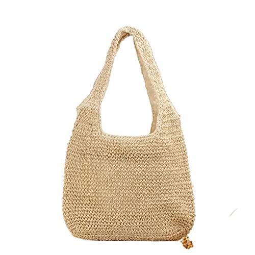 Borsa Paglia Bohemian Straw Bag Summer Handmade Beach Bag Beach Sacchetto di grandi dimensioni Borsa a tracolla Vacanze Rattan Totes all'aperto Ambientazione esterna Seaside Borse Bolsas Borsa Di Pagl
