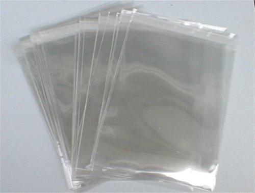 Sacchetti di cellophane formato A4, confezione da 100 pezzi, trasparenti, spessore 40 micron, alta qualità