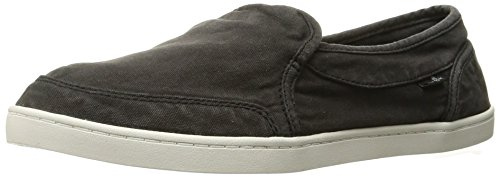 Sanuk Women's Pair O Dice Flat, Washed Black, 10 M US