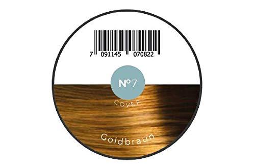 KÖ-HAIR FIBERS Haarverdichtung, Schütthaar, Streuhaar für lichtes Haar und Teilglatze 12g Farbe Goldbraun