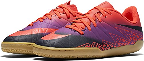 Nike Unisex-Kinder Hypervenom Phelon II IC Fußballschuhe, Hyper Blue/schwarz, 35.5 EU