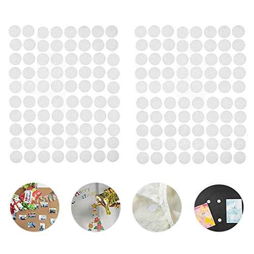 600 Pares Adhesivo Redondo, Lunares Adhesivo 10mm Adhesivo Cintas Autoadhesivo Puntos Pegajoso Monedas Puntos