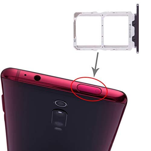 Compatible con Xiaomi Redmi K20 / K20 Pro/Mi 9T / Mi 9T Pro Try Tray Bandeja para tarjeta Dual SIM Nano SIM 1 + ranura SIM 2 lector de tarjetas (negro)