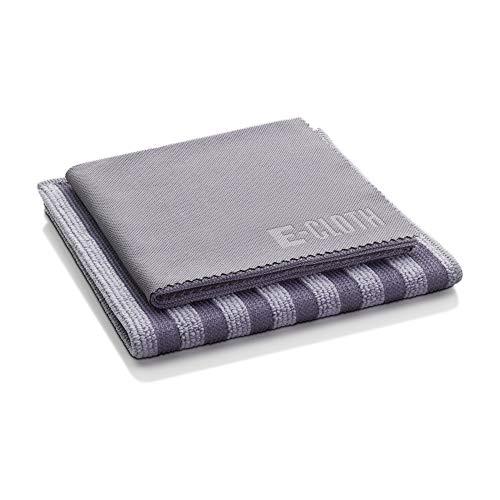E-Cloth Edelstahl-Reinigungsset, Mikrofaser, Grau, 2 Tuchset