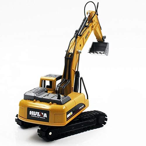 Dpatleten HUINA Toys NO.1710 1/50 aleación Excavadora camión Modelo de ingeniería de Coche Juguetes para niños marrón