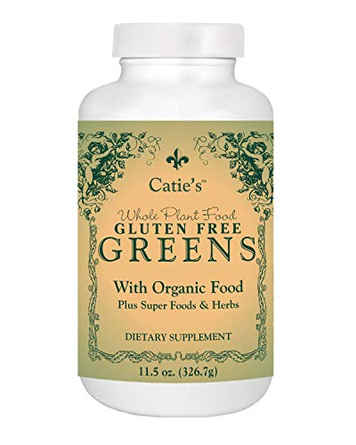 Catie's Organic Gluten Free Greens - Best Tasting Green Alkaline Superfood w/ Over 35 Amazing Ingredients! Whole Food Nutrition. Vegan, Soy Free, NON-GMO. Optimal Health & Vitality! 12oz. 30 Servings.
