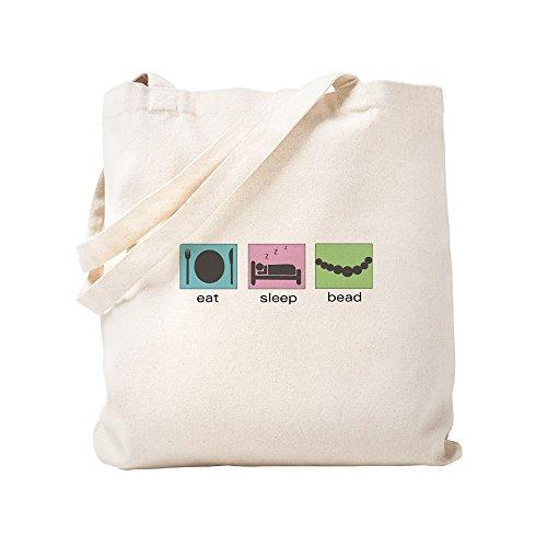 CafePress–Eat. Sleep. Bead.–Leinwand Natur Tasche, Reinigungstuch Einkaufstasche Tote S khaki