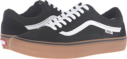 Vans Men's Old Skool Pro Black/Gum/White 6.5 D US