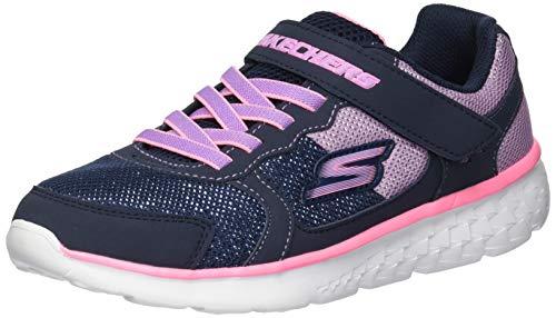 Skechers GO Run 400 Sparkle - Sneaker sportive da ragazza, Bambini, 81358L, Blu neon rosa, 13 UK