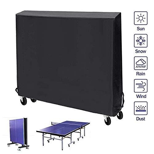YOUSHENG Speciale tafeltennistafel voor sport, waterdicht/stofdicht zware oxford doek voor binnen/buiten/sportschool ping pong tafelkleed (185x165x70cm)