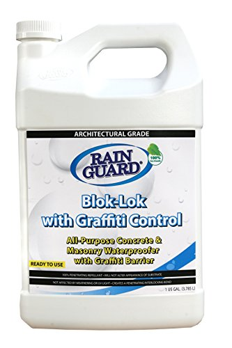 Blok-lok With Graffiti Control (Case 4 Gallons) Superior Grade, Heavy-Duty Graffiti Coating & Water Repellent in ONE easy to apply product! Unpainted Porous Concrete, Brick, Wood & Masonry Surfaces