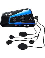 LEXIN バイク インカム 10riders 4riders 最大10人同時通話 音楽共有 インカム FMラジオ B4FM インカム バイク Bluetooth5.0防水インターコム バイク用インカム 音楽再生 音声コマンド IP67防水 無線機いんかむヘルメット用インカム 連続15時間の長時間通話 インカム バイク オートバイ ツーリング用 タイプC端子 2種類マイク 日本語音声案内 説明書 技適マーク有 1機