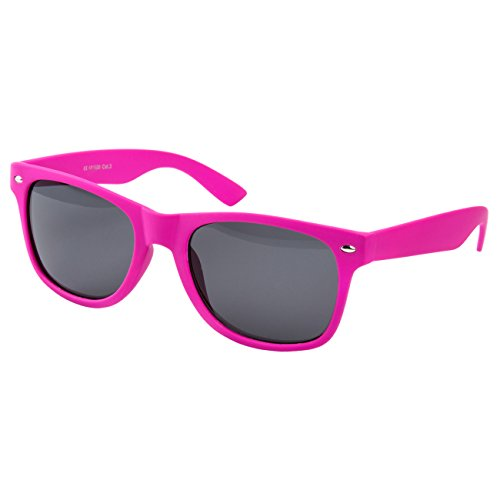 Ciffre Nerdbrille Sonnenbrille Stil Brille Pilotenbrille Vintage Look PINK MATT GUMMIERT