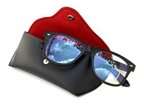 Blaulichtfilter Brille Farbechte Sicht · Anti Blaulicht | Gaming Büro Blaulichtfilter Brille Matt · Schutz vor PC Fernseher und Handy Bildschirmen · Damen und Herren Filter Schutzbrille