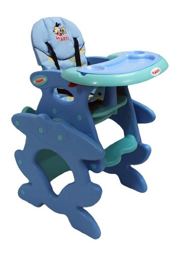 Chaise haute de bébé pour enfants ARTI Betty J-D008 Hund Doggy Blue Green Chaise haute Set - chaise et une table