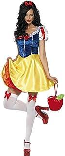 Smiffy's 30195M, Disfraz Blancanieves para mujer, color Amarillo, talla M
