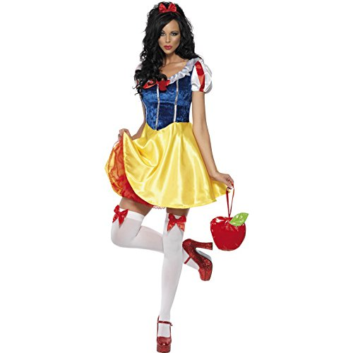 Fever Damen Märchen Kostüm, Kleid, Unterrock, Haarreifen und Halsband, Größe: XS, 30195