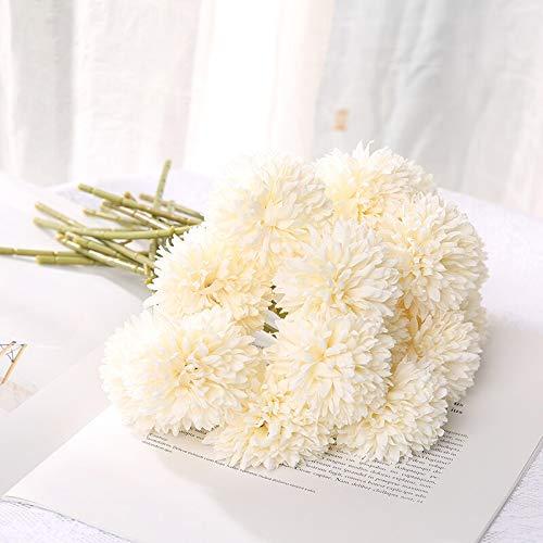 5 flores artificiales de seda para decoración del hogar, decoración de boda, caja de regalo para álbumes de recortes, manualidades, flores falsas