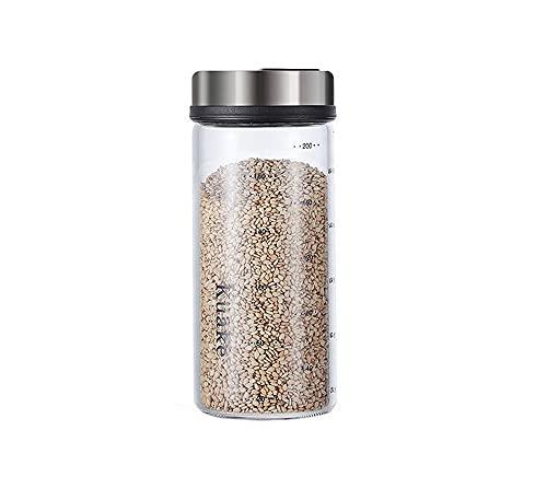 XiaoShenLu Salz und Pfeffer Streuer, Gewürzgläser mit Drehdeckel für Gewürze oder Kräuter in der Küche oder Grillen im Freien, 200ml