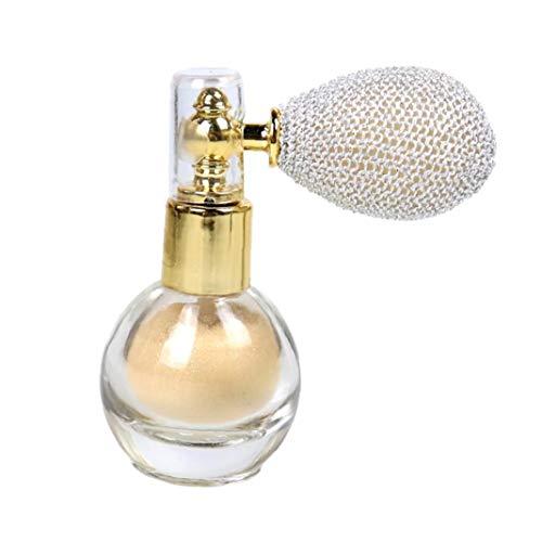 ZYCX123 Proyección de Polvo del Brillo del Reflejo aclaran Aroma de resaltado del Pigmento del Maquillaje en Polvo para la Cara Cuerpo -Marfil Pelo Blanco Utensilios de Maquillaje